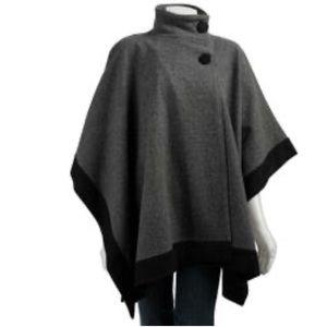 Jones New York signature wool poncho